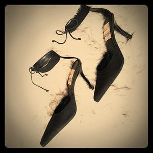 🆕Suede Ankle Tie Pointed Heel